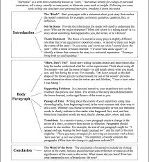 narrative essay format co narrative essay format