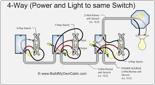 how to wire a 4 way switch 4 way wiring power all wires to same