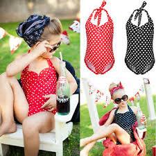 Image Is Loading Girls Kids Bikini Tankini Halterneck Swimsuit Swimming  Costume