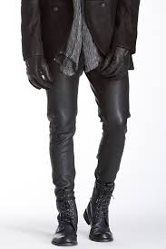 image of john varvatos collection slim fit leather pant