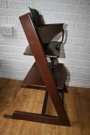 stokke tripp trapp highchair with baby seat walnut brown can post