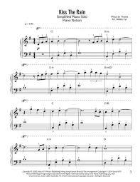High quality sheet music for kiss the rain by yiruma. Kiss The Rain Yiruma Simplified Piano Solo Sheet Music Pdf Download Sheetmusicdbs Com