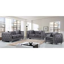 contemporary living room gray sofa set. Full Size Of Sofa:tufted Gray Velvet Sofa Barrister Tufted Large Contemporary Living Room Set M