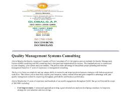 ISO 27001 ISMS ISO 22301BCMS ISO 50001EnMS Quality Management Systems  Consulting Alexio Maseka the Quality Assurance ...