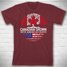 Canadian Grown With American Roots Shirt Id Roots Can 01