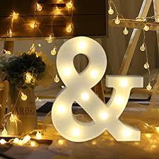 letter lighting. Light Up Letters,SMYTShop Warm White LED Letter Alphabet Lights For Festival Lighting