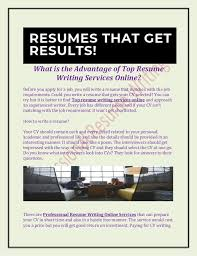 Cv Writing Online What Is The Advantage Of Top Resume Writing Services Online