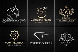 i will make jewelry luxury golden and glitter logo design pany