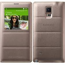 samsung galaxy note 4 s view flip cover bronze gold