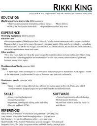 sample internship cv
