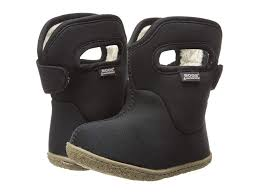 Bogs Kids Baby Classic Solid Toddler Black Kids Shoes