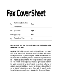 11 Fax Cover Sheets Examples Samples