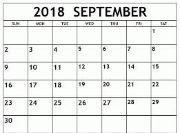 Blank Calendar Excel Blank September 2018 Calendar Printable September 2018 Printable
