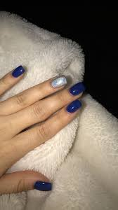 Navy Blue Nail Designs For Prom Navy Blue Acrylic Nails Blue Acrylic Nails Navy Acrylic