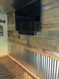 corrugated metal wainscoting garage wainscoting diy corrugated metal wainscoting corrugated metal