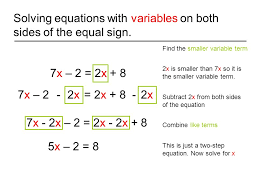 how to solve linear equations with two variables on one side