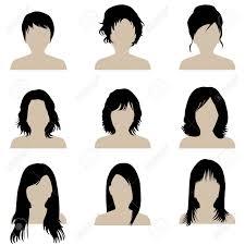 髪型の種類とブルネットの女性のコレクション