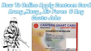 To How Apply In Card 2017 - Online Canteen Youtube Army