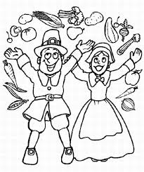 Small Picture Pilgrim Boy And Girl Thanksgiving Coloring Pages To Print
