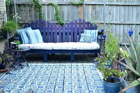 moroccan patio furniture outdoor rug outdoor rug with traditional deck also bench blue blue patio furniture