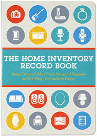 Personal Inventory Home Inventory Record Book Keep Track Of Your Personal Property