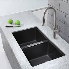 black kitchen sink undermount