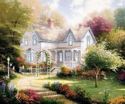 prints for thomas kinkade evening paintings for bedrooms canvas decoration pictures the wall monroe