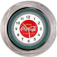 Retro Kitchen Wall Clocks Drink Coca Cola Chrome Kitchen Clock Vintage Coke Clocks