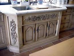 kitchen sink surround in sugar pine relief carving not appliques