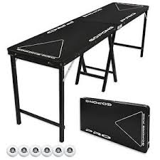 Image is loading Flip-Cup-amp-Beer-Pong-Party-Table-8- Flip Cup \u0026 Beer Pong Party Table! 8 Foot ***PROFESSIONAL GRADE! PRO