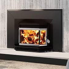 osburn 1800 metallic black epa wood burning fireplace insert