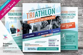 Flyer Poster Templates Triathlon Event Flyer And Poster Templates