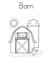 Barn Coloring Pages Barn Coloring Pages Old With Animals Net