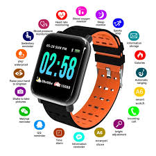 <b>A6 Smart Watch Heart</b> Rate Monitor Fitness Tracker Sleep Monitor ...