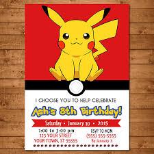 Pokemon Birthday Invitations Pokemon Birthday Invitations Of Foxy