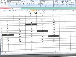 Office Bingo Make A Bingo Game In Microsoft Office Excel Step Perfect Bingo