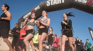 women cheering as they start the race