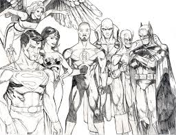 Small Picture Justice League Unlimited Coloring Sheets Peetietang Deviantart
