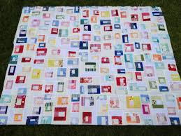 Scrap Box Quilt | Squares and Triangles & I didn't like how a few of the blocks touched each other, so I may have  hand appliqued strips of white to separate them. Ok, I did, and I love it  much ... Adamdwight.com