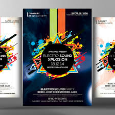 Poster Templet Electro Future Flyer Poster Templates Template For Free Download On