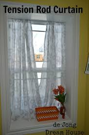 tension rod curtains hanging best ideas on kitchen modern net curtain solutions