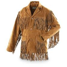 men s leather fringe jacket brown