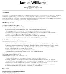 Dentist Resume Sample home resume resume samples dental Ozilalmanoofco 7