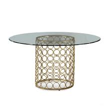 Round Table Seating Capacity Clayton Round Glass Dining Table Metal Base Material 6 Seating