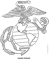 Small Picture Patriotic Symbols Marine Insigne drawing to print 018