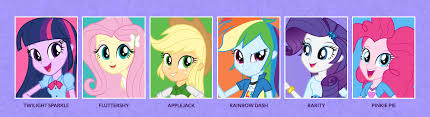 Equestria Girls Character Designs Equestria Girls Names Of The Mane 6 My Little Pony