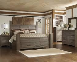 king bedroom sets ashley furniture. 4pc Poster Storage Bedroom Set In Dark Brown King Sets Ashley Furniture T