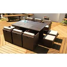 6 person patio table rattan garden furniture set 6 person outdoor patio dining wicker table cube 6 person patio table
