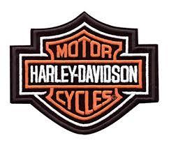 amazon com harley davidson bar shield patch orange x x large