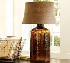 pottery barn table lamps delightful pottery barn table lamps clift glass lamp base espresso enchanting pictures